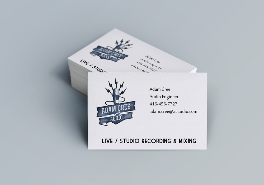 Elyptic graphics showcase for Animation business cards